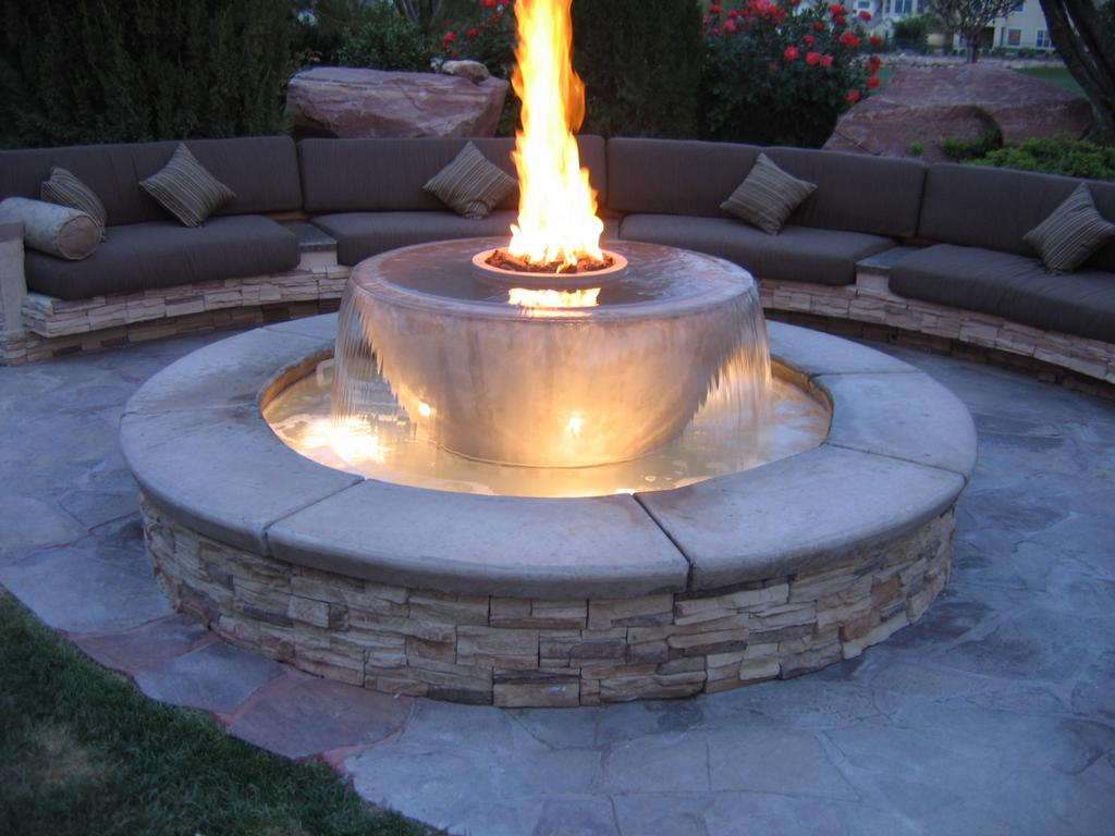patio designs with warm bath